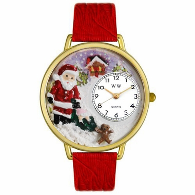 Personalized Christmas Santa Claus Watch