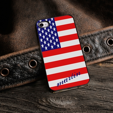 Personalized American Flag iPhone Cover