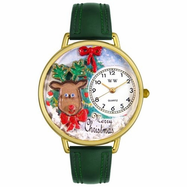 Personalized Christmas Reindeer Unisex Watch