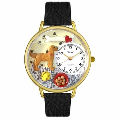 Personalized Golden Retriever Unisex Watch