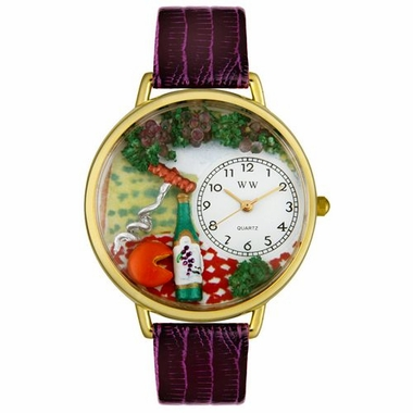 Personalized Wine and Cheese Unisex Watch