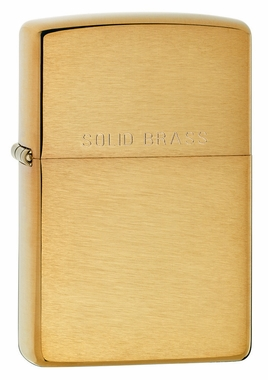 Brushed Brass with Solid Brass Engraved Zippo Lighter