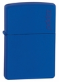 Royal Blue Matte with Logo Zippo Lighter