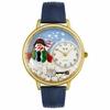 Personalized Christmas Snowman Unisex Watch