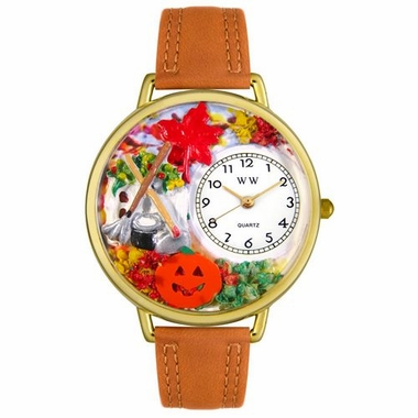 Personalized Autumn Leaves Unisex Watch