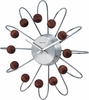 Walnut Ball Wall Clock - Curved