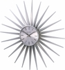 Silver Sunshine Wall Clock
