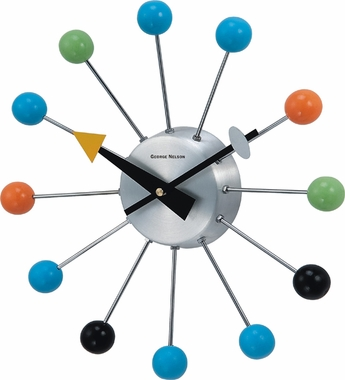 Colored Ball Wall Clock