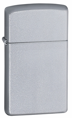 Satin Chrome Slim Zippo Lighter