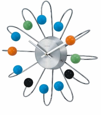 Colored Ball Wall Clock - Curved
