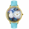 Personalized White Cat Unisex Watch