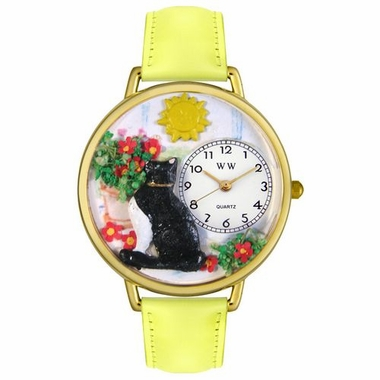 Personalized Basking Cat Unisex Watch