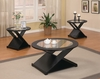 Contemporary 3 PC Round Occasional Table Set