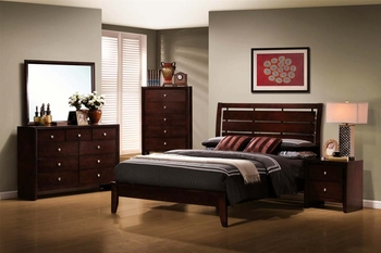 4 PC Serenity Style with Cut-Out Headboard Design Furniture