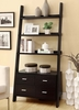 Leaning Book case with drawers and shelves Model # 800319