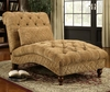 Accent Chaise with Elegant Traditional Style Furniture
