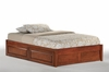 Tall basic platform bed with Two storage drawers