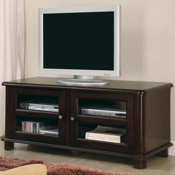 Classic TV Stands Transitional Media Console with Shelves
