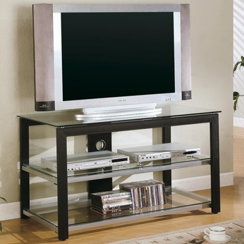 Contemporary TV Stands Metal and Glass Media Console