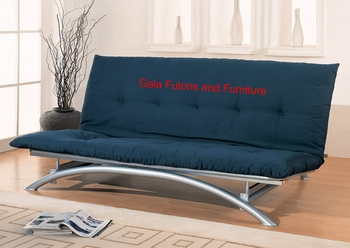 the curve futon package   2 modern armless futon metal frame with 8   mattress package va futon      rh   galafutonsandfurniture