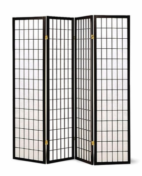 4-Panel Folding Screen Black And White 4624