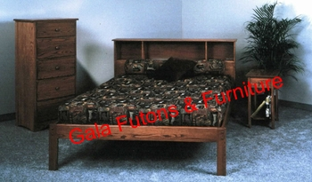 Bookcase Platform Bed