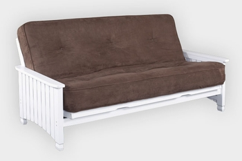Full size Winchester premium inner spring futon mattress in black olive mocha or brown