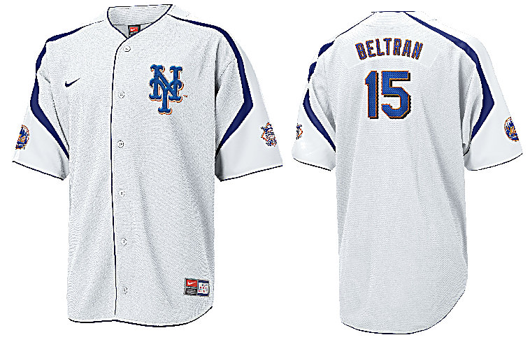 Carlos Beltran New York Mets Mlb Tackle Twill Embroidered