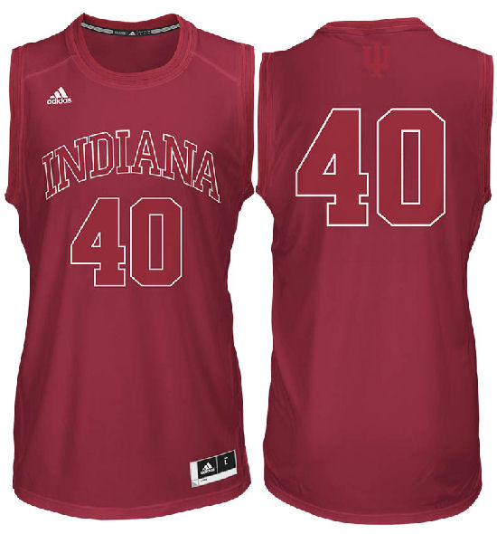36754dee6d Indiana Hoosiers #40 Crimson Bleed Out College Basketball Jersey by ...