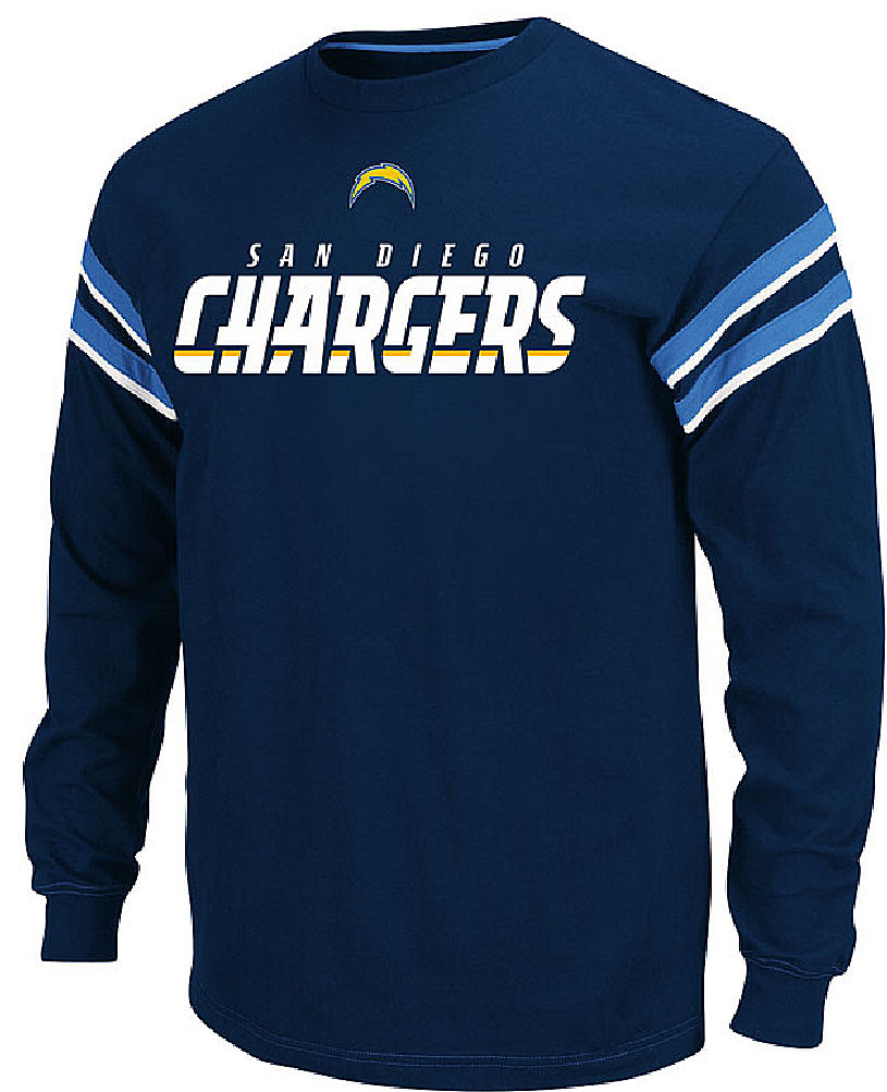 San Diego Chargers Clothing: Team Apparel San Diego Chargers End Of Line Long Sleeve