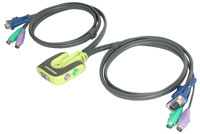 (Click to Enlarge) IOIOGEAR 2 port PS/2 KVM switch - Worlds Smallest KVM Switch (KMVGCS62)
