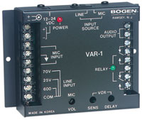 (Click to Enlarge) BOGEN [bog-var1] - >> VOICE ACTIVATED RELAY REQUIRESPRS40C POW (ITEM ALSO KNOWN AS : VAR1) [bog-var1]