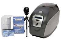 (Click to Enlarge) ZEBRA CARD [zcd-p110i0m10aidb] - >> QUIKCARD ID SOLUTION BUNDLE (P110I WITH MAG  SOFTWARE  WEBCAM AND STARTER KIT) [zcd-p110i0m10aidb]