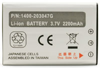 (Click to Enlarge) UNITECH [uni-1400-203047g] - >> BATTERY HT660-PA600 3.7V 2200MAH LION (ITEM ALSO KNOWN AS : 1400-203047G) [uni-1400-203047g]