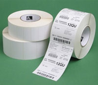(Click to Enlarge) ZEBRA TECHNOLOGIES [10000280] - ZEBRA - CONSUMABLES - Z - PERFORM 2000T PAPER LABEL - THERMAL TRANSFER - 4 - X 6.5 - 3 - CORE - 8 - OD - 900 LABELS PER ROLL - PERFORATED - PRICED PER CASE [10000280]