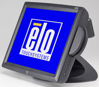 (Click to Enlarge) ELO TOUCHSYSTEMS [e411937] - ELO - 1529L - 15- LCD - INTELLITOUCH - USB INTERFACE - DARK GRAY - MSR-KEYBOARD EMULATION - REAR CUSTOMER DISPLAY - DESKTOP [e411937]
