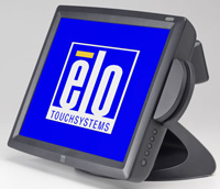 (Click to Enlarge) ELO TOUCHSYSTEMS [e796307] - ELO - 1529L - 15-LCD - ACCUTOUCH - USB INTERFACE - DARK GRAY - MSR-HID - REAR CUSTOMER DISPLAY - DESKTOP [e796307]