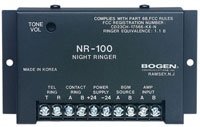 (Click to Enlarge) BOGEN [NR100] - >> NIGHT RINGER POWER SUPPLY NOT INCLUDED (ITEM ALSO KNOWN AS : BOG-NR100) [NR100]