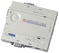 (Click to Enlarge) ATEN CS12C 2 Port PS/2 KVM Switch with Cables - Full Retail (same as GCS12 & CS12 with cables)