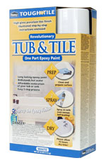 Tub & Sink Spray-On Epoxy Finish, White, 2x 16oz Cans