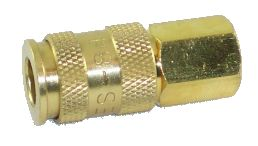 Quick Connect Coupling Female, Brass (Universal)