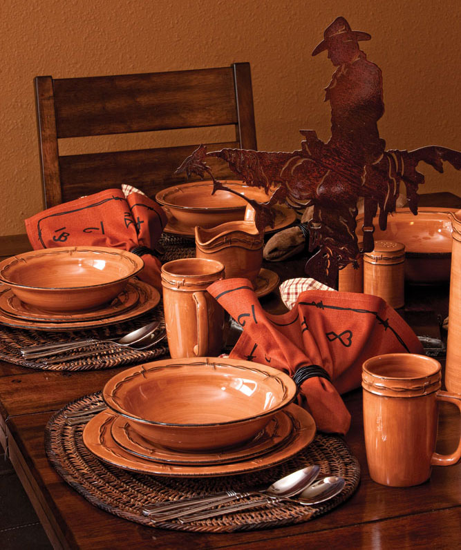 Rustic Ranch  Dinnerware Set by Montana Silversmiths & Rustic Ranch