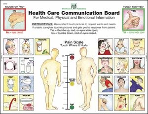 GP31 - English Health Care Communication Boards - 50 boards