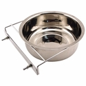 buy discount  Large Stainless Steel Kennel Cup with Bolt Clamp -- approx 88 oz.