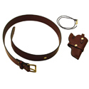 buy discount  TBI Leather Booneville Set -- Gun Belt, Holster, and Lanyard