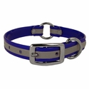 buy discount  Blue K-9 Komfort Center Ring 3/4 in. Reflective Puppy Collar -- 12 in. length