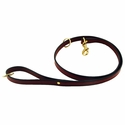 buy discount  K-9 Komfort 4 1/2 ft. Mahogany Bridle Leather Snap Lead