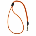 buy discount  Orange Mendota Premium Solid Braid Lanyard