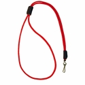 buy discount  Red Mendota Premium Solid Braid Lanyard