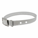 "buy discount  Hi-Flex 1"" 2-Hole White Replacement Collar Strap"